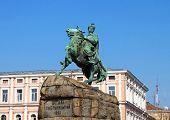 picture of hetman  - Hetman Bogdan Khmelnitsky statue in Kiev - JPG
