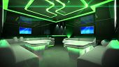 Green Cyber Interior Room