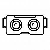 Cyber Game Goggles Icon. Outline Cyber Game Goggles Icon For Web Design Isolated On White Background poster