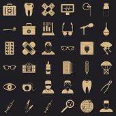 Clever Doctor Icons Set. Simple Style Of 36 Clever Doctor Icons For Web For Any Design poster
