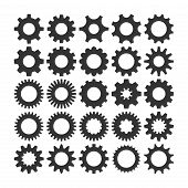 Gear Icon Vector Set, Machine Gear Icon Collection, Gear Icon Eps10, Gear Icon Vector Flat, Gear Ico poster