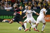 CARSON, CA. - MAY 7: New York Red Bulls F Thierry Henry #14 (L) in action during the MLS game betwee
