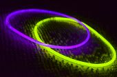 Purple And Green Glow In The Dark Rings poster