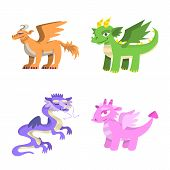Vector Illustration Of Creature And Animal Symbol. Set Of Creature And Medieval Vector Icon For Stoc poster