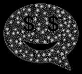 Flare Mesh Millionaire Message Smile With Lightspot Effect. Abstract Illuminated Model Of Millionair poster