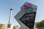 London - June 03: Official Countdown Clock For The Olympic And Paralympic Games 2012, Which Will Run