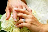 Wedding Rings and Interlocked Fingers
