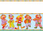 picture of lyre-flower  - Funny clowns frame - JPG