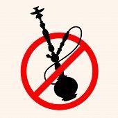 foto of shisha  - No smoking shisha - JPG