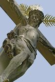 Crucifix At A Old Graveyard In Freiburg