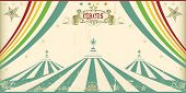 Vintage circus card. An invitation card for your circus company.