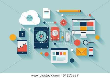 Data Storage Concept Illustration poster