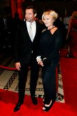 NEW YORK-SEP 17: Hugh Jackman (L) and wife Deborra-Lee Furness attend the 14th annual New Yorkers Fo