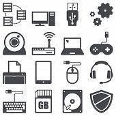 picture of antivirus  - Icons set about computer and technology concept - JPG