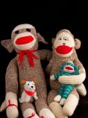 image of sock-monkey  - The sock monkey family  - JPG