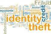 Постер, плакат: Identity кражи Wordcloud