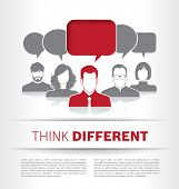 image of differences  - Think Different - JPG
