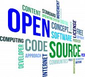 stock photo of bartering  - A word cloud of open source related items - JPG