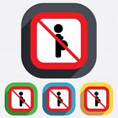 No Pregnant sign icon. Pregnancy symbol.