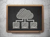 stock photo of wall cloud  - Cloud technology concept - JPG
