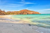stock photo of papagayo  - A beach in the Golfo de Papagayo in Guanacaste Costa Rica - JPG