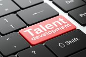 Education concept: Talent Development on computer keyboard background