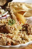 foto of biryani  - Sindhi biryani prepared from mutton - JPG