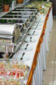 picture of chafing  - chafing dish heaters at the banquet table - JPG