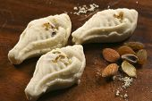 pic of bengali  - Sandesh is traditional bengali sweet dish prepared with cottage cheese - JPG