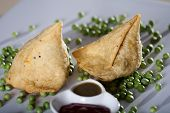 pic of bengal-gram  - Samosa  is an Indain fried or baked pastry with a savory filling - JPG