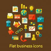Flat business icons