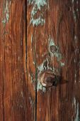 Weathered Wood Of Old Barn Post poster