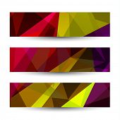 Abstract banners collection  - raster version