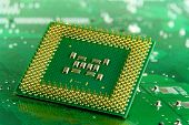 picture of microprocessor  - Microprocessor on Circuit  - JPG