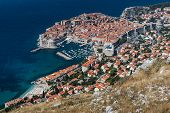 picture of fortified wall  - Panorama of Dubrovnik - JPG