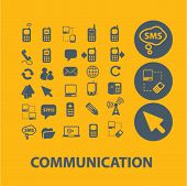 communication icons, vector