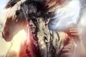 pic of indian chief  - American Indian warrior - JPG