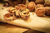 foto of nutcrackers  - Healthy food full of omega - JPG