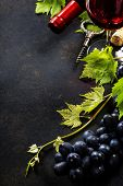 picture of life event  - Food background with Wine and Grape - JPG
