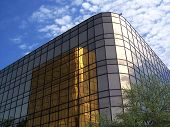 Gold Office Building poster