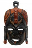 picture of african mask  - African tribal mask isolated in white background - JPG