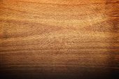 stock photo of cutting board  - Worn butcher block cutting and chopping wooden board as background - JPG