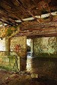 stock photo of derelict  - An historic derelict building in Jajce in the Bosanska Krajina region of central part of Bosnia and Herzegovina - JPG