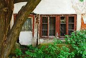 picture of derelict  - An historic derelict building in Travnik in the Central Bosnia Canton in Bosnia and Herzegovina - JPG
