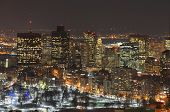 stock photo of prudential center  - Boston Back Bay Skyline at night - JPG