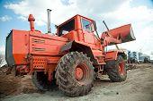 picture of bulldozer  - Bulldozer on sand - JPG