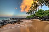 stock photo of sunrise  - Sunrise from secret cove - JPG