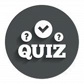 image of quiz  - Quiz with check and question marks sign icon - JPG
