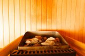 stock photo of sauna  - Beauty health spa and lifestyle concept - JPG