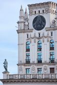 picture of empire state building  - Building in Stalin empire style near the train station of Minsk - JPG